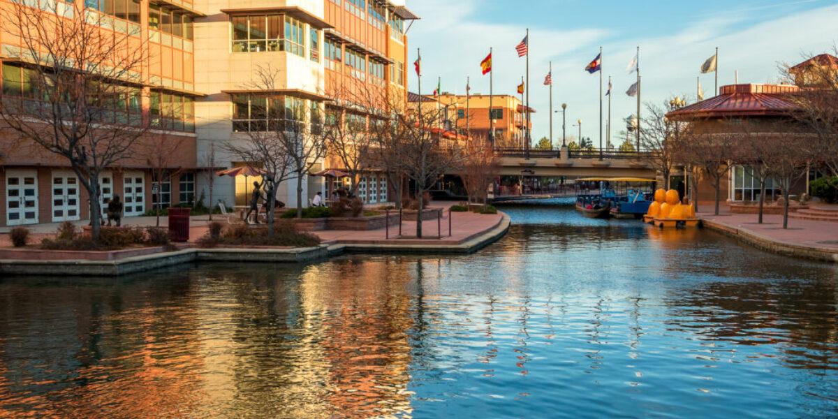 Scenic view of Historic Arkansas Riverwalk in Pueblo